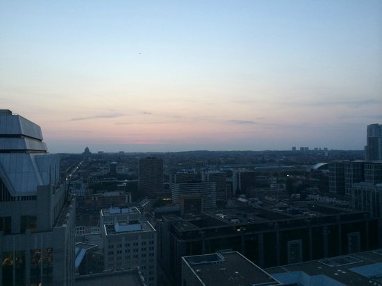 Thon Hotel Brussels City Centre : View from 25th floor room