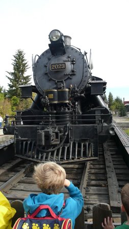 Heritage Park Historical Village: Train on the turntable - Railway Day
