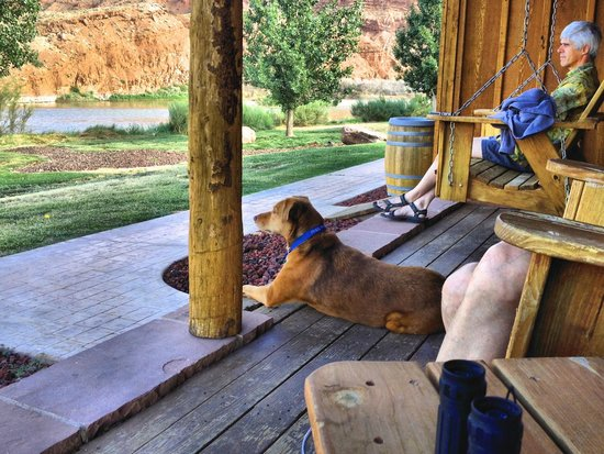 Sorrel River Ranch Resort and Spa: E-2 porch