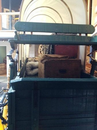 Douglas County Museum of History & Natural History: wagon small interior