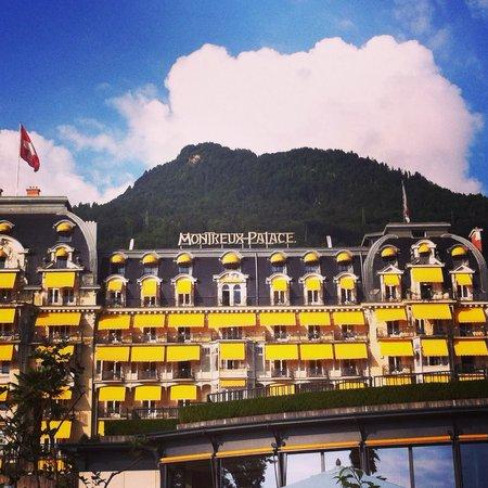 Fairmont Le Montreux Palace: Vue depuis le lac Leman