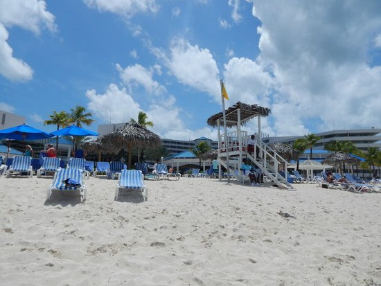Melia Nassau Beach - All Inclusive: View of resort from Cable Beach