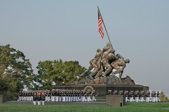 U.S. Marines Sunset Parade: US Marine Silent Drill Team and the US Marine Memorial