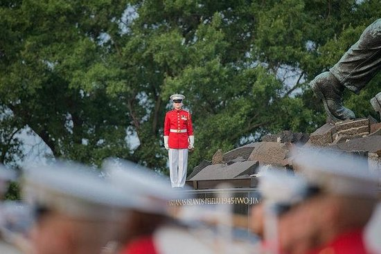U.S. Marines Sunset Parade: Buglar Ready to Play Taps