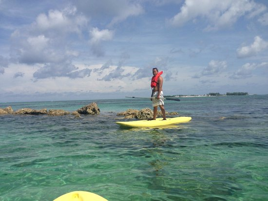 Melia Nassau Beach - All Inclusive: Paddleboarding to coral reef on hotel property/Cable Beach
