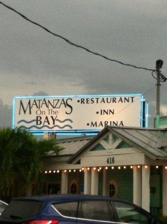 Matanzas on the Bay: Sign board