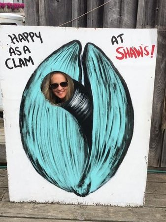 Shaw's Fish & Lobster Wharf: Caption says it all!