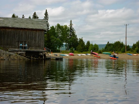 Rock Island Lodge : We chose our kayaks, met our guide and started on our paddle from the beach