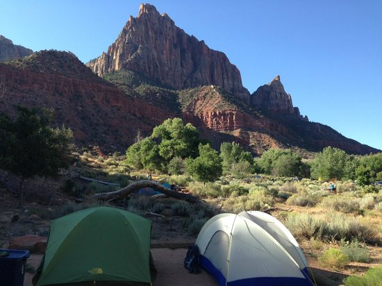 Watchman Campground: view from f loop
