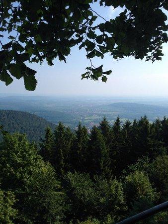Couvent du mont Sainte-Odile : Aussicht auf's Elsass