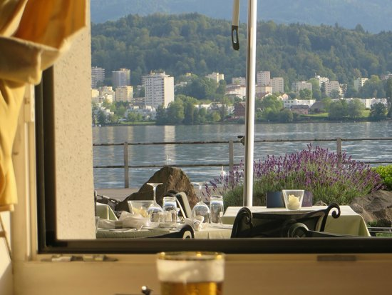 Hotel Seeburg: View from the restaurant