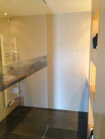 Almhotel Hochhaderich: geräumige Dusche