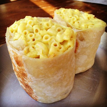 vegan mac and cheese burrito
