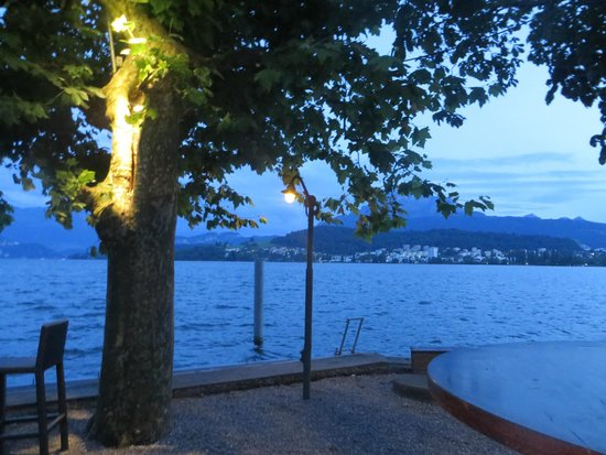 Hotel Seeburg: view from the lake bar
