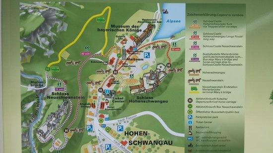 Schloss Hohenschwangau: piantina