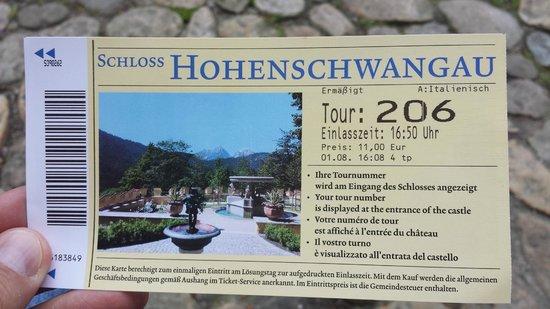 Schloss Hohenschwangau: biglietto di ingresso