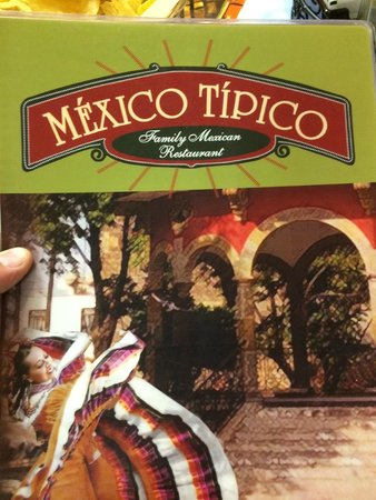 Mexico Tipico : Menu Cover