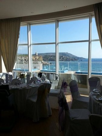 Radisson Blu Resort & Spa, Malta Golden Sands: essence terrace set up ready for wedding reception