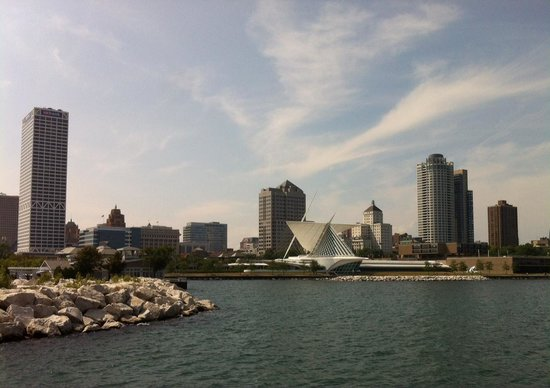 Milwaukee Boat Line: Milwaukee Shoreline from Lake Michigan
