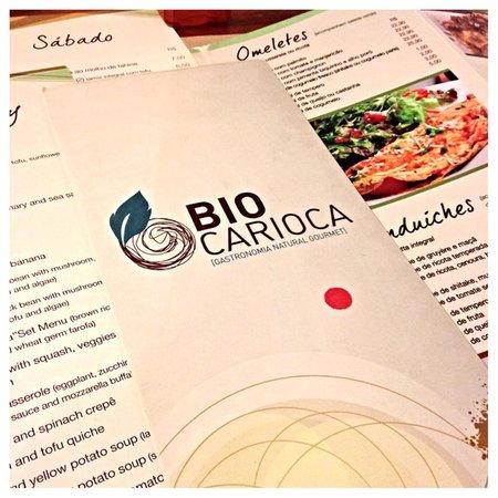 Bio Carioca: Menu