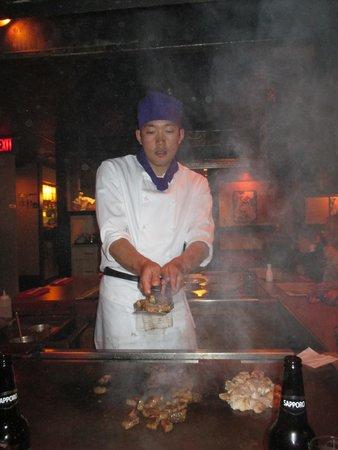 Japanese Village Restaurant: Chef at Work