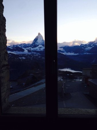 3100 Kulmhotel Gornergrat : Camera con vista Matterhorn ... Vista mozzafiato!