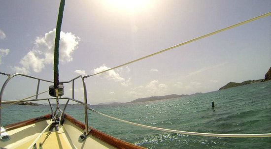 New Horizons Day Sail: view while sailing to Christmas Cove on Little St. James
