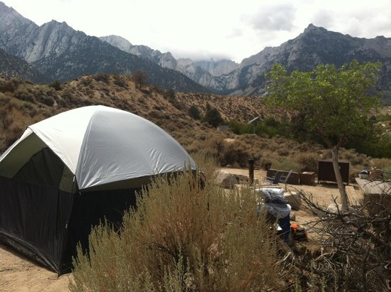 Lone Pine Campground: View of Whitney
