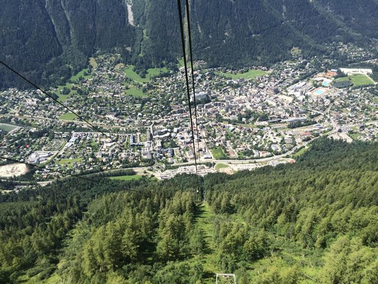 Mont Blanc : Chamonix from cable car