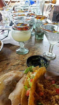 Loco Burro Fresh Mex Cantina: The staff placed dirty glasses right next to my husband and his food. Yummy.