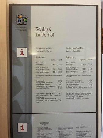 Schloss Linderhof: orari e prezzi 2014