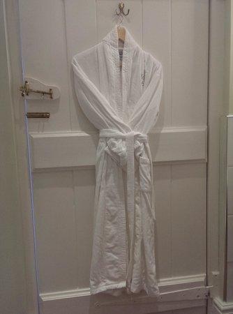 Llangoed Hall: Fluffy bathrobe