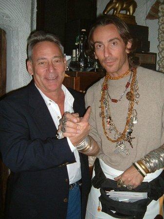 Ristorante La Giostra : Martin Cohen with maître d' and friend Zoldano