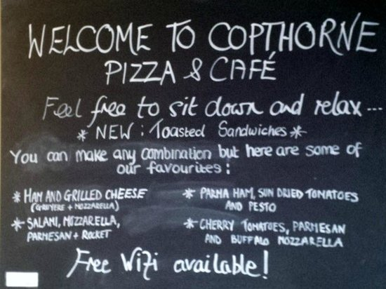 The Real Pizza Company: Welcome board