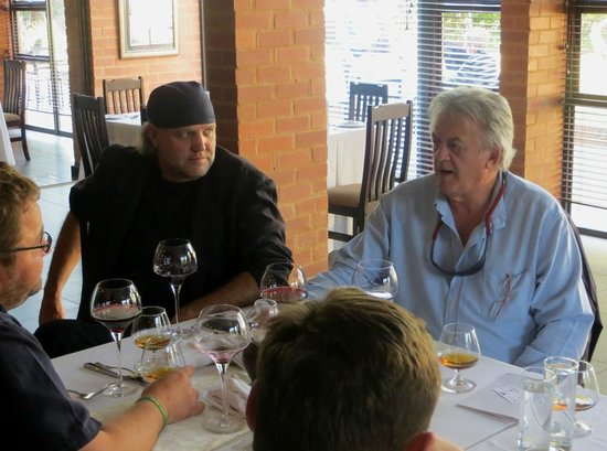 Hemingways Restaurant & Wine Cellar: Celebrities dining (Dr Piet Croucamp & Cobus Bester)