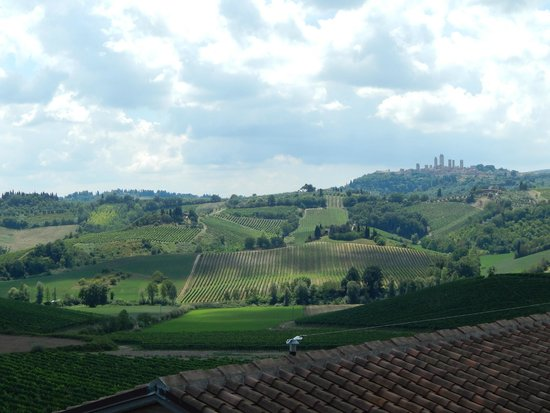 The Best of Tuscany Tour: View from farm