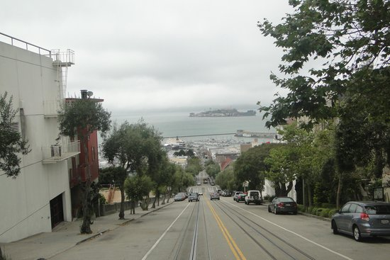 Omni San Francisco Hotel : On a tramcar looking down on Alcatraz