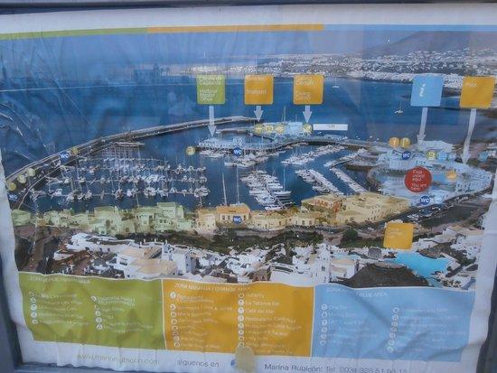 Marina Rubicon : marina map