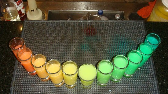 Secrets Vallarta Bay Resort & Spa: Rainbow Shots at Preferred Club Bar