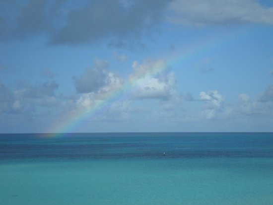 Pompano Beach Club : Rainbow off our balcony!!!