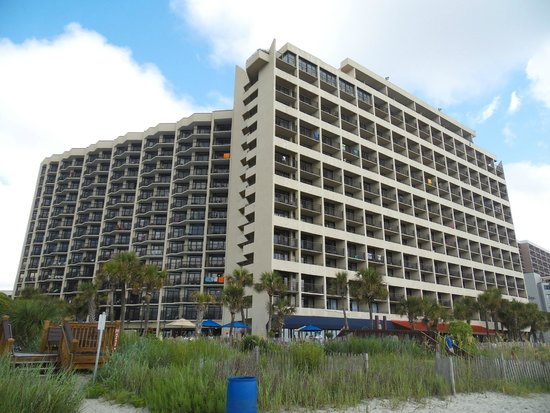 """Ocean Reef Resort: The """"Middle"""" tower directly facing the beach, and the """"South"""" tower with the Angle view of the b"""