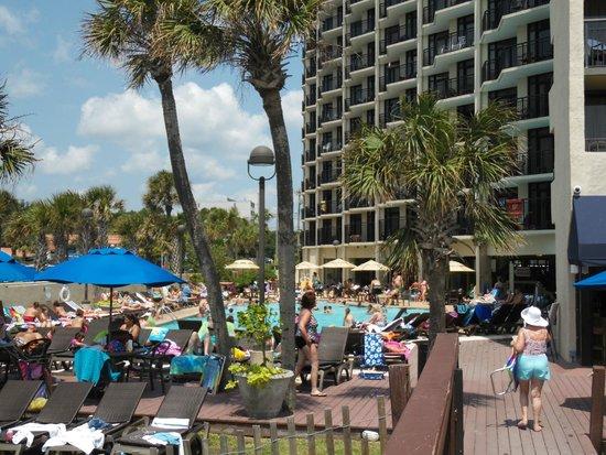 Ocean Reef Resort: Outdoor pool area (view from beach looking in)