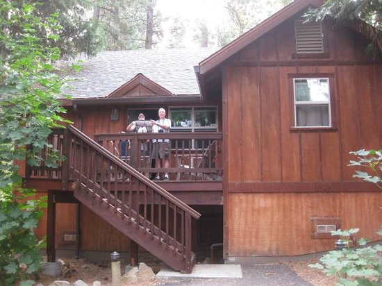 Evergreen Lodge at Yosemite: Our cabin. This was a two bedroom cabin. It fit four adults and two children quite nicely.