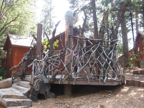 Evergreen Lodge at Yosemite : The playscape. As far as I know, it was not designed by George R.R. Martin - it just looks that