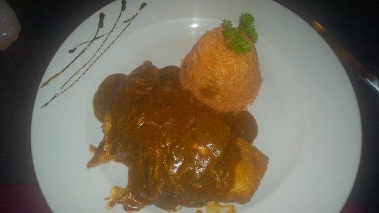 Mayan Bistro: mole chicken