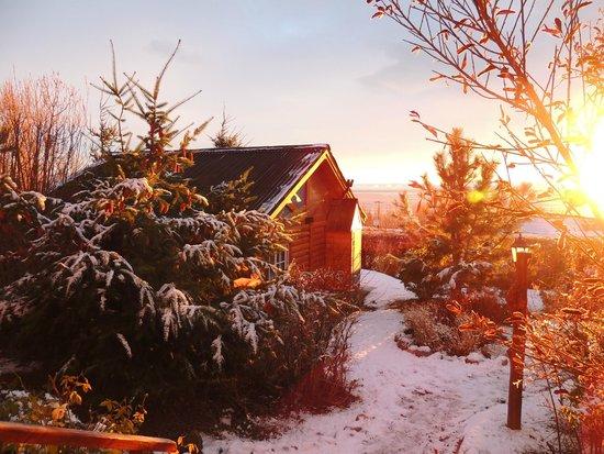 Solares Del Sur: Por la mañana desde la puerta de la cabaña