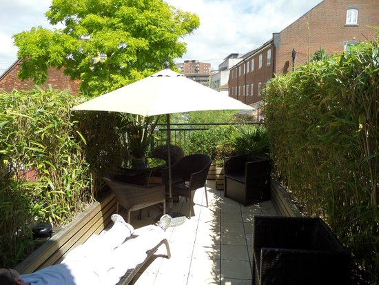 The Old Townhouse: Roof terrace outside our room