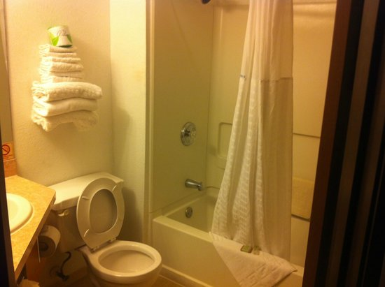 Super 8 Austin North/University Area: Single Queen Bathroom