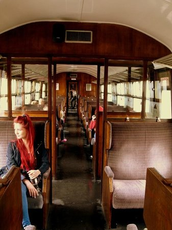 Lakeside & Haverthwaite Steam Railway: Inside the carriage