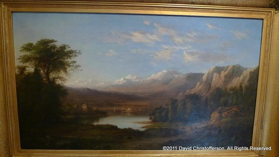 Thomas Cole National Historic Site: Some of the art in the museum.
